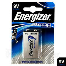 1 x Energizer Ultimate Lithium 9V battery L522 E-Block MN1604 LR22 EXP:2026