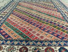 Vintage 1960s Turkish  Wool Pile Dowry Rug 4x6ft Sivas Provice  Turkey