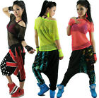 New Hollow out hip hop top dance female Jazz costume wear neon Mesh Sexy t-shirt