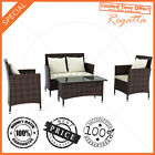 Brown 4pc PE Wicker Garden set Outdoor Indoor Sofa Lounge Furniture Set Setting