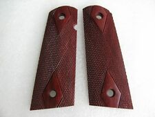 DIAMOND CHECKERED GRIP FOR COLT 1911 FULL SIZE, KIMBER CLONES, HARD WOOD, CRAFT