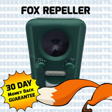 FOX SCOIATTOLO CAT PEST Repeller + regalo gratuito. per GIARDINO REPELLENTE Solare & PIR