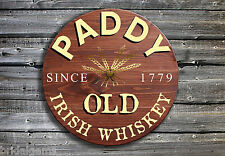 Traditional Irish Whiskey Barrel End Wooden Pub Sign ☘ Hand Made in Ireland ☘