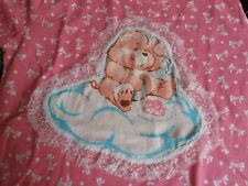 Care Bear Vintage Kawaii Cute Fairy Kei Shirt Pink Bows Cake Cheer Bear Youth L