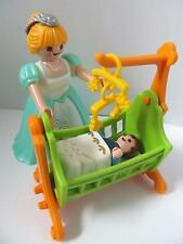 Playmobil Dollshouse/Victoriano/Palacio Muebles/Figuras: Lady y bebé en Cuna Nuevo