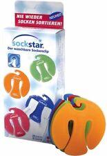 SOCKSTAR SOCKENKLAMMERN SOCKENCLIPS BasicLine  20er-Pack je 5 in 4 Farben