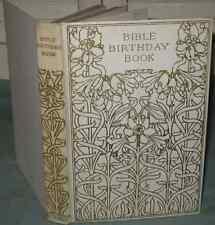 Antique BIBLE BIRTHDAY BOOK c 1900 Henry Altemus TEXT FOR EVERY DAY Art Deco