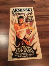Original ARMINSKI Art Print Poster SILK SCREEN Popdom 1999 (27x57 cm) SIGNED