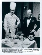 1987 Chef Kalus Wockinger & Joseph De Angelis La Chaumiere Calgary Press Photo