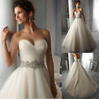 New Stock White Ivory Wedding Dress Bridal Gown Size 6 8 10 12 14 16 18
