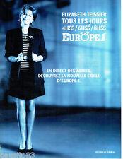 PUBLICITE ADVERTISING 026  1997  Europe 1 radio  Elisabeth Teissier les astres