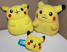 3 x Pokemon Plush Doll Pichu Banpresto + ANA Airlines Wristband + Tomy