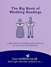 The Big Book of Wedding Readings, , Confetti.Co.Uk, Used; Good Book