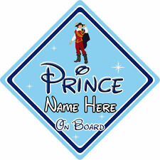 Personalised Disney Prince On Board Car Sign – Pocahontas Prince John Rolfe