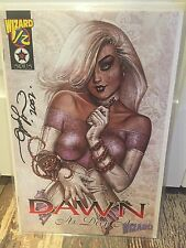 Dawn 1/2 As Deep As  # 1 Signed Not Cgc Comic Raw Wizard With COA