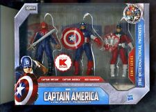 CAPTAIN AMERICA ( KMART ONLY ) CAPTAIN BRITAIN RED GUARDIAN ( 3 ) ACTION FIGURES