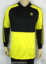 VINTAGE ADIDAS ORIGINALS YELLOW TREFOIL GOALKEEPER JERSEY 80s MAGLIA MAILLOT M