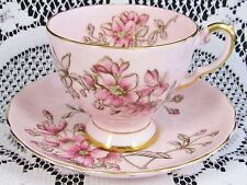 TUSCAN SOFT PINK TEACUP WITH BLOSSOMS TEA CUP AND SAUCER