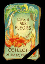 Vintage French Perfume Soap Label: Antique Art Nouveau Oeillet Miraly Paris