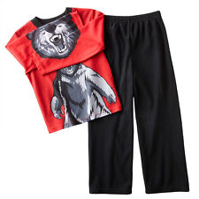 NWT ☀BEAR☀ Boys Pajamas  $28 JAMMIN JAWS  New  ROAR!  4   4T   MSRP $28
