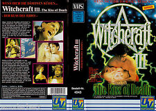 "VHS - "" WITCHCRAFT III ( 3 ) - The Kiss of Death "" (1991) - William L. Baker"
