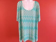 HOT GINGER WOMENS LACED BACK STYLE DESIGN TOP SIZE 5X LARGE  NEW WITH TAGS