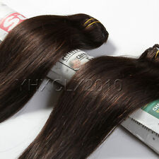 Clip in Real Human Hair Extensions Black Brown Blonde Red Hot 14''16''20''22''