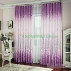 Floral Pachira Tulle Voile Door Window Curtain Drape Panel Sheer Scarf Valances
