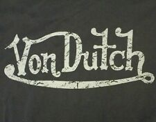 Von Dutch Short Sleeve T-Shirt Black Size Large  Motorcycle