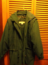 LONDON FOG LADIES SIZE S(PET)GREEN PUFFY WINTER/SKI/SNOW JACKET...ZIP OUT LINER