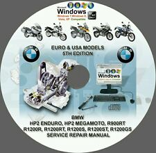BMW HP2 ENDURO HP2  MEGAMOTO R900RT R1200 (USA-EUROPE) SERVICE REPAIR MANUAL DVD