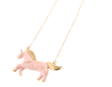 Beautiful Betsey Johnson pink pony Pendants chain Sweater chain necklace N314