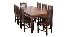 Brand New Jali Ganga Indian Solid Sheesham Wood-175cm DINING TABLE AND 8 CHAIRS