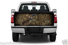 Buck Deer Camouflage Grassland #01 Tailgate Vinyl Graphic Decal Sticker Wrap