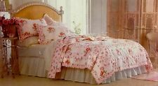 NWT SIMPLY SHABBY CHIC FLORAL ROSE BUD ROSES KING SIZE QUILT RACHEL ASHWELL