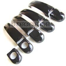 GLOSS BLACK DOOR 4 HANDLE COVERS TRIMS KIT VW T5 TRANSPORTER CARAVELLE CADDY VAN