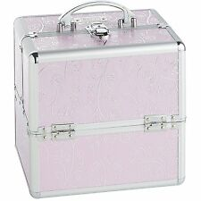 "Professional 10"" Aluminum Beauty Makeup Cosmetics Train Travel Case Organizer"