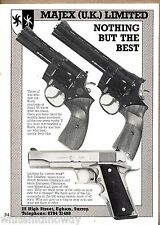 1985 MAJEX Korth Revolver AD British UK Gun Handgun Advertising