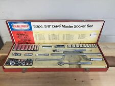 "33 Piece Vintage Challenger by Proto 3/8"" Socket Set Complete in Red Box / Plomb"