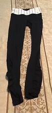 Lululemon Sz 2 Angel Wing And Black Speed Tights Brushed