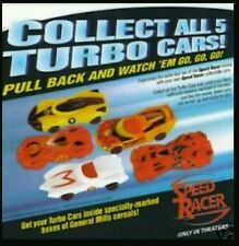 2008 General Mills Limited Edition Speed Racer Turbo Cars *Complete Set*