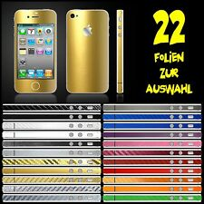 IPHONE 4S FOLIE GOLD METALLIC ( BUMPER COVER HÜLLE SCHALE CASE SKIN )