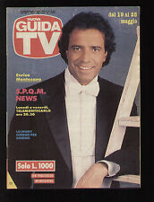 GUIDA TV MONDADORI 20/1991 ENRICO MONTESANO PROGRAMMI TV LOCALI RAI MEDIASET
