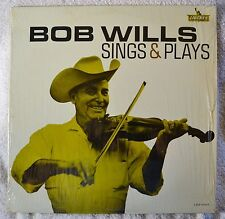 Bob Wills Sings and & Plays Orig Mono LP VG+++ Shrink Western Swing Fiddle NICE