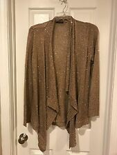 CYRUS Women's Gold Sequin Sweater 2x