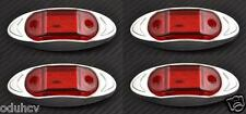 4x 6 LED RED 12V SIDE REAR CHROME MARKER LIGHTS Car Truck Caravan SUV Pickup