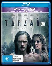 The Legend Of Tarzan 3D Blu-ray ONLY NO 2D (2016) BRAND NEW IN STOCK NOW