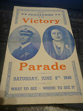 victory celebrations Programme London 1946    ww2  royalty
