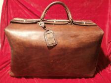 Sehr große antike Reisetasche echt Ledertasche Weekender um 1900 zwirngenäht RAR