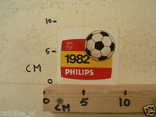 STICKER,DECAL PHILIPS 1982 VOETBAL FOOTBALL SOCCER